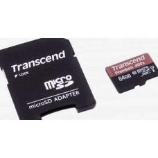 MicroSDHC 64Gb 10class Transcend